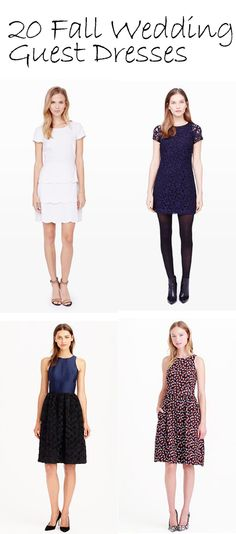 What to Wear to a Semi-Formal Fall Wedding   Wedding guest dresses