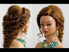 Bridal prom hairstyle for long medium hair - YouTube