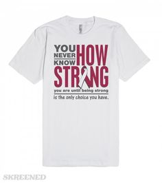 Head and Neck Cancer Being Strong Only Choice Shirts | Head and Neck Cancer powerful slogan: You Never Know How Strong You Are Until Being Strong is The Only Choice You Have shirts, apparel and unique awareness merchandise featuring an awareness ribbon and an inspiring statement of strength. Any custom requests, please contact our sister shop at awarenessribboncolors.com  #Skreened