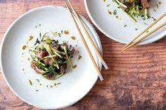 Thon mariné au wasabi et nori Fukuoka, Beef, Asian, Food, Thai Basil, Japanese Cuisine, Asian Cuisine, Recipes, Meat