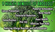 Health benefits of broccoli.