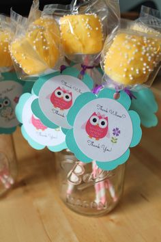 Marshmallow Pops at an Owl Party #owl #party
