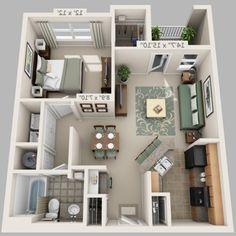 Modern house interior minecraft - la luxury homes 3d House Plans, Dream House Plans, Small House Plans, Apartment Layout, Apartment Plans, 3d Home, Dream House Interior, Duplex, Small House Design