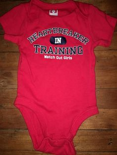 07ac2a861 HEARTBREAKER IN TRAINING One Piece Boys Size 12-18 Months Old Navy 100%  Cotton