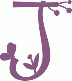 Silhouette Online Store - View Design #58958: spring letter j