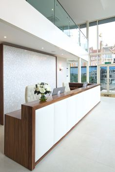 Reception Desk with Padded Front and Logo