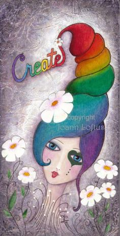 """""""Create"""" by Joann Loftus Would love to recreate this in Fabric!!!"""