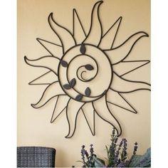 Sun Sprout Decor Wall Hang Art Dark Bronze Leaves Living Room Hall House Garden  #Modern