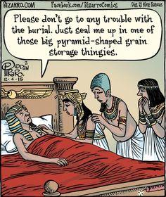 #FuneralFunnies- Egyptian Death Cartoon