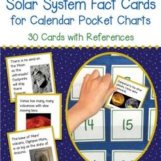 Solar System Fact Cards for Calendar Pocket Charts – Unit Extension Activity