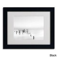 Geoffrey Ansel Agrons 'Four Gulls' Framed Matted Art