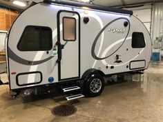 Forest River R-Pod travel trailer RP-190 highlights: Pass-Through Storage U-Shaped Dinette Kitchen Slide Front RV Queen Bed For the couple who is ready to camp anytime and anywhere, you will love how...
