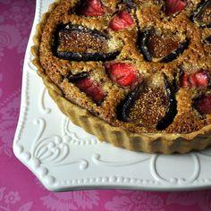 Strawberry Fig and Hazelnut Tart