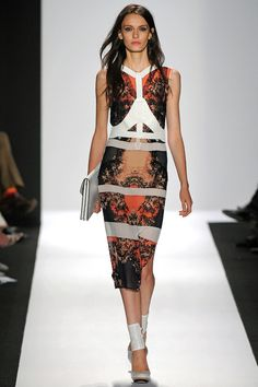 Great print! I'm obsessing over shades of orange right now! #fashion by BCBG Max Azria