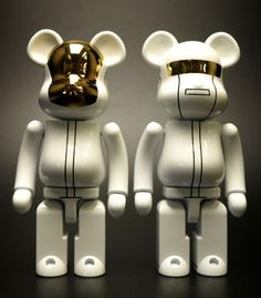 200% Bearbrick Chogokin Daft Punk White Suit Set