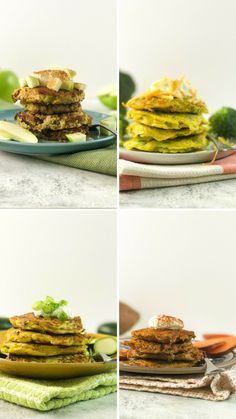 Fritters don't have to be covered in dough and deep-fried to be delicious. Here are 4 healthy and simple ways to enjoy fritters. Healthy Vegetable Recipes, Healthy Snacks, Vegetarian Recipes, Healthy Eating, Cooking Recipes, Tasty Videos, Mets, Clean Eating, Food And Drink