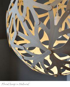 David Trubridge Floral lamp in Natural