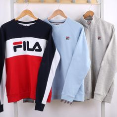 7fbdbcc2a Fresh and colourful Fila sweatshirts are now available here at 80sCC. Shop  these and more