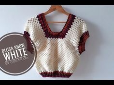 How to make an easy crochet blouse Crochet Vest Pattern, Crochet Crop Top, Crochet Blouse, Easy Crochet, Knit Crochet, Crochet Patterns, Crochet Summer Tops, Crochet Instructions, Crochet Videos
