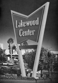 Vintage mall sign, Lakewood, California, 1950s