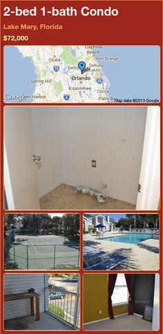 2-bed 1-bath Condo in Lake Mary, Florida ►$72,000 #PropertyForSale #RealEstate #Florida http://florida-magic.com/properties/8380-condo-for-sale-in-lake-mary-florida-with-2-bedroom-1-bathroom