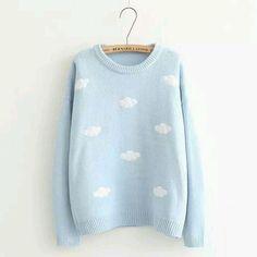 kawaii cute clouds jumper