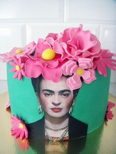 Frida Kahlo Mexican Birthday, Mexican Party, Mexican Cakes, Birthday Cake, Beautiful Cake Designs, Beautiful Cakes, Amazing Cakes, Frida Kahlo Birthday, Quince Cakes