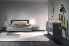 With the Fluttua bed, it will feel like you are sleeping on a cloud. Essential and functional, this suspended bed gives shape and lightness to dreams. Suspended Bed, Under Bed Drawers, Interior Architecture, Interior Design, Tiny Apartments, Home Room Design, Small Rooms, Bunk Beds, Furniture