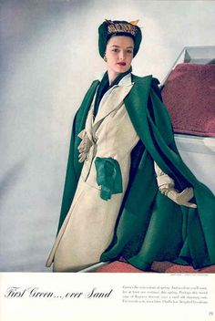 Forties Fashion The fabulous forties were a very interesting decade because World War II had such a tremendous impact on fashion. 1940s Fashion, Vogue Fashion, Fashion Photo, Vintage Fashion, Fashion News, Fashion Illustration Vintage, 20th Century Fashion, Older Women Fashion, Costume