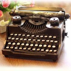 Vintage Antique Style Vintage Typewriter Metal Model Memory of Old Times Decoration Gift - Gadgets-Novelty - TopBuy.com.au