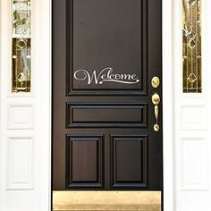 Wall Decal Decor Welcome - Home Sign Front Door Vinyl Decal(White, 6.5'h x28'w) *** Check out this great product-affiliate link. #WallStickersMurals