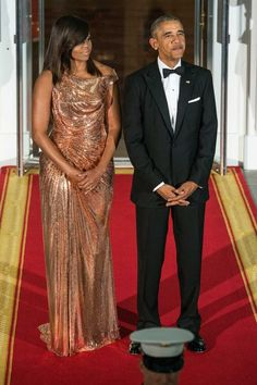 michelle obama's state dinner dress | Michelle Obama Looks Absolutely Incredible For Her Last State Dinner