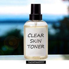 Homemade Natural Clear Skin Toner