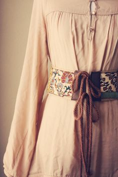 alaura. a boho patchwork jute belt.