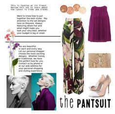 """the pantsuit"" by dawn-sbh ❤ liked on Polyvore featuring Erika Cavallini Semi-Couture, Etro, Gianvito Rossi, Yves Saint Laurent and thepantsuit"