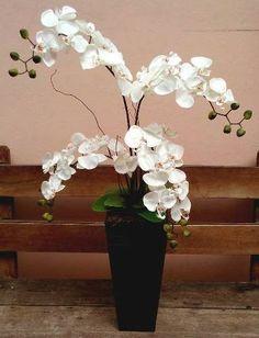 Arranjo Artificial Orquídeas Com 4 Galhos Para Chão - R$ 165,00