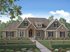 ePlans Ranch House Plan – Craftsman Style Family Ranch – 2641 Square Feet and 4 Bedrooms from ePlans –  House Plan Code HWEPL78171