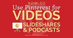 Now you can share Videos, SlideShares and Audio Podcasts and Extend your Exposure on Pinterest.