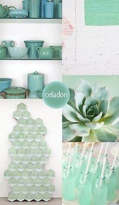 color my style celadon vert turquoise vert de gris couleur bleue tendance