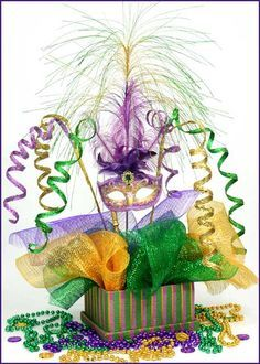 Mardi Gras Masquerade Centerpiece