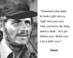 "Quint Robert Shaw Jaws ""sometimes shark..."" Quote 8 x 10 Photo Picture #d1"