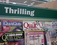 Quilting is practically an extreme sport...