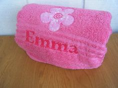 Flower Personalized Towel, Personalized Bath Hand Towel, Personalized Bathroom Decor, Birthday Party Gift, Gift for Girl, Personalized Gift on Etsy, $14.35