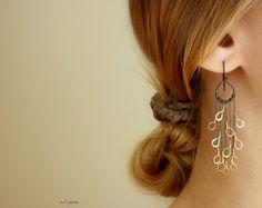 Peacock feathers earrings by whyzee on etsy. #jillsdoespins #jewelery