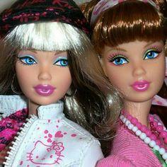 Pretty dolls both close sisters