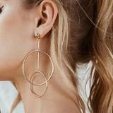 These large double hoops are fantastic every day hoops, and despite their size they are virtually weightless. They are versatile enough to wear every day, and large enough to wear out at night. Double Earrings, Tiny Stud Earrings, Round Earrings, Silver Hoop Earrings, Women's Earrings, Pendant Earrings, Tourmaline Earrings, Lady, Fashion Earrings