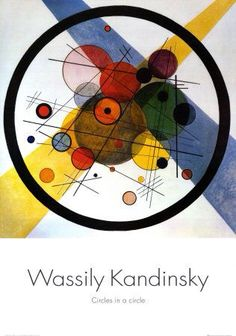 #Wassily #Kandinsky's #Circles in a Circle from 1923.