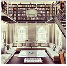 NYC penthouse library