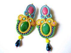 Soutache Earrings Odeta by olaboga on Etsy
