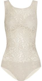 Karla CollettoStretch-lace swimsuit  - So pretty ... would look great with sea foam beach wrap..